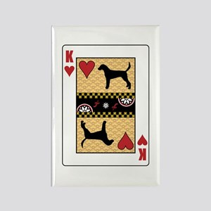 King Foxhound Rectangle Magnet