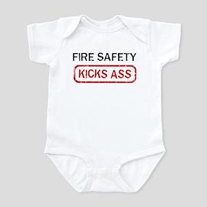 FIRE SAFETY kicks ass Infant Bodysuit