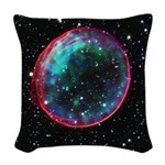 Bubble Supernova Woven Throw Pillow