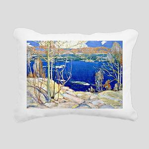 Tom Thomson - Spring Ice Rectangular Canvas Pillow