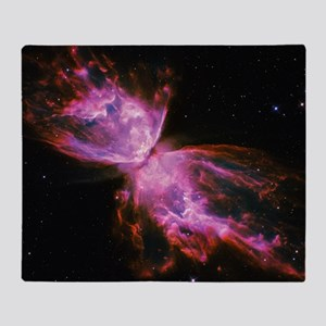 Butterfly Nebula Pink Throw Blanket