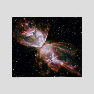Butterfly Nebula Throw Blanket