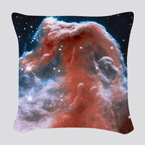 Horsehead Cloud Nebula Woven Throw Pillow