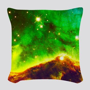 Amazing Celestial Portrait Woven Throw Pillow