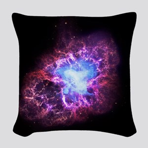 Crab Nebula Woven Throw Pillow