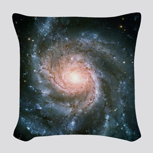 Pinwheel Galaxy Woven Throw Pillow