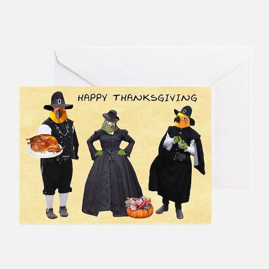 Black Beak Thanksgiving Card Greeting Cards