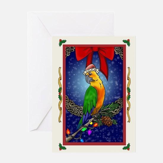 Christmas Bird1 Card Greeting Cards