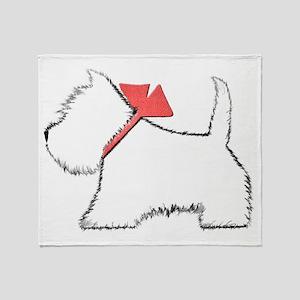 Cute Westie Dog Art Throw Blanket