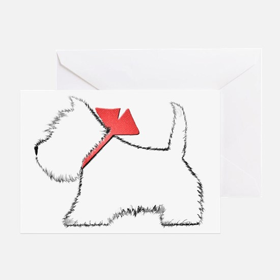 Cute Westie Dog Art Greeting Card