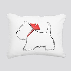 Cute Westie Dog Art Rectangular Canvas Pillow