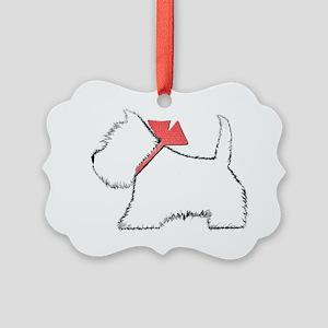 Cute Westie Dog Art Picture Ornament