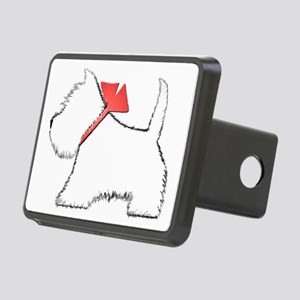 Cute Westie Dog Art Rectangular Hitch Cover