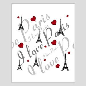 Trendy I LOVE PARIS Small Poster