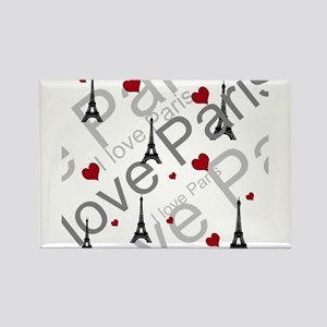 Trendy I LOVE PARIS Rectangle Magnet