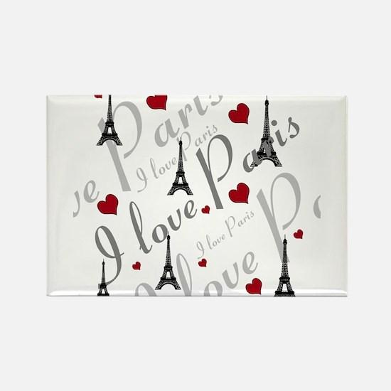 Trendy I LOVE PARIS Rectangle Magnet