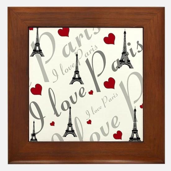 Trendy I LOVE PARIS Framed Tile