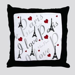 Trendy I LOVE PARIS Throw Pillow