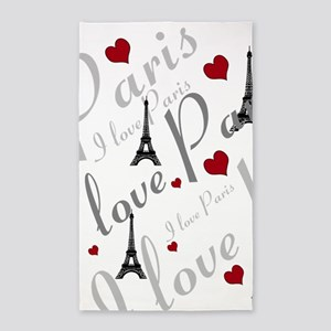 Trendy I LOVE PARIS 3'x5' Area Rug
