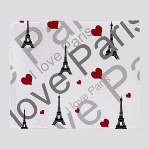 Trendy I LOVE PARIS Throw Blanket