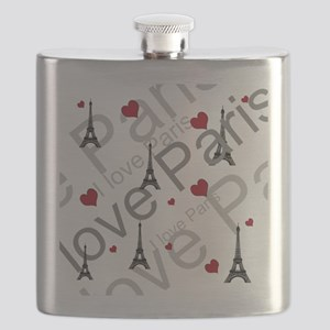 Trendy I LOVE PARIS Flask