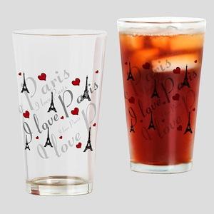 Trendy I LOVE PARIS Drinking Glass