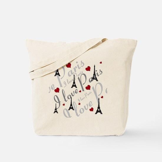 Trendy I LOVE PARIS Tote Bag