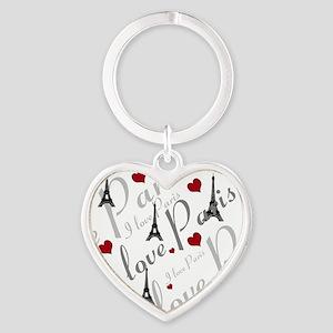 Trendy I LOVE PARIS Heart Keychain
