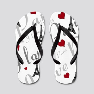 Trendy I LOVE PARIS Flip Flops