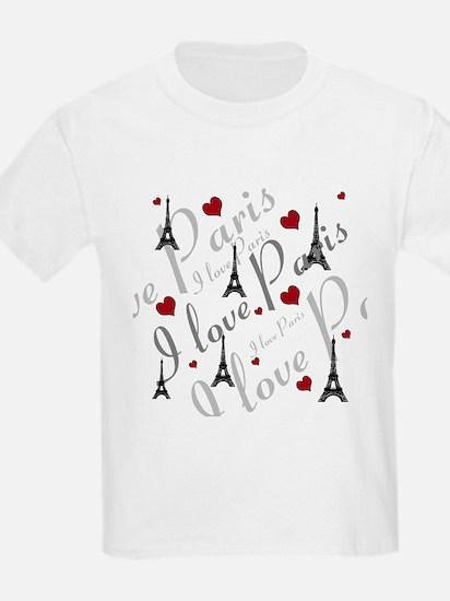 Trendy I LOVE PARIS T-Shirt