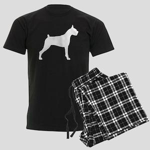 Boxer Dog Men's Dark Pajamas