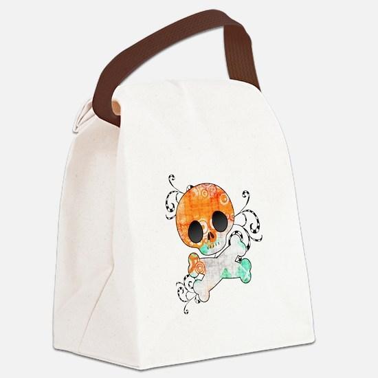 Vibrant Skull Canvas Lunch Bag