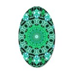 Emerald Crystals 35x21 Oval Wall Decal
