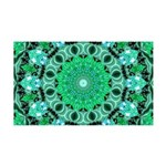 Emerald Crystals 35x21 Wall Decal