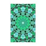 Emerald Crystals Mini Poster Print