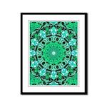 Emerald Crystals Framed Panel Print