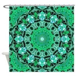 Emerald Crystals Shower Curtain
