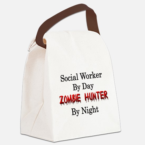 Social Worker/Zombie Hunter Canvas Lunch Bag