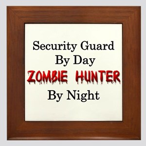 Security Guard Framed Tile