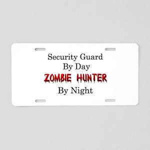 Security Guard Aluminum License Plate