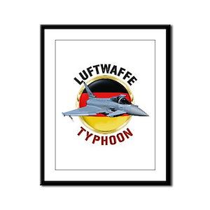 Luftwaffe Typhoon Framed Panel Print