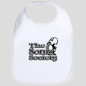 Sonic Society in B&W Baby Bib