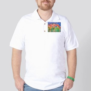 Colorful cactus, southwest art Golf Shirt