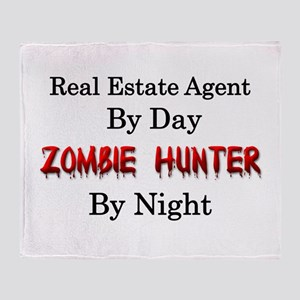 Real Estate Agent/Zombie Hunter Throw Blanket