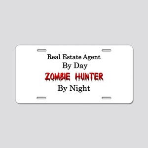 Real Estate Agent/Zombie Hu Aluminum License Plate