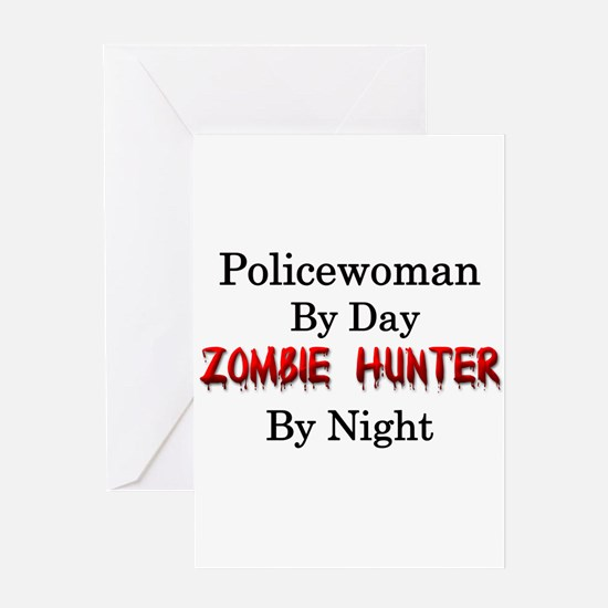 Policewoman/Zombie Hunter Greeting Card