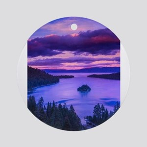 EMERALD BAY lake tahoe Ornament (Round)