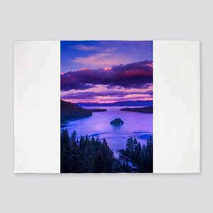 EMERALD BAY lake tahoe 5'x7'Area Rug