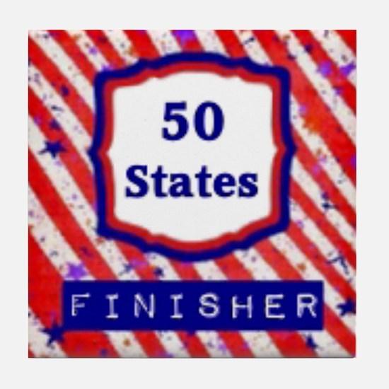 50 States Finisher Tile Coaster