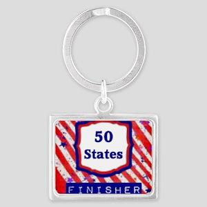 50 States Finisher Landscape Keychain
